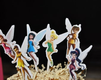 Tinkerbell and Friends Cupcake Toppers Set of 12