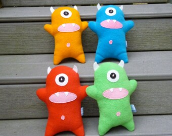 Fleece Monster Toy, Pick Your Color Custom Stuffed Monster Doll