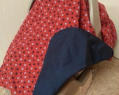 Carseat Canopy with Polka Dots.  Modern. Lightweight for Summer