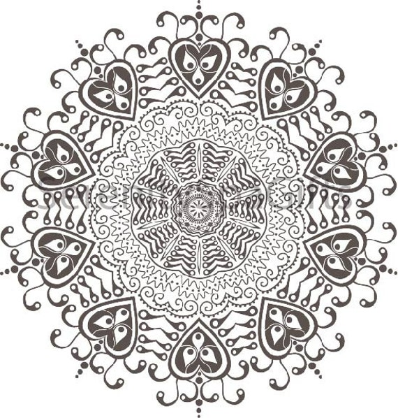 Henna Tattoo Coloring Pages Mandala Art Coloring Page or