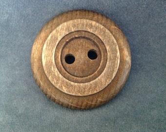 "Big wood button. 2"" (50mm) 1 piece"