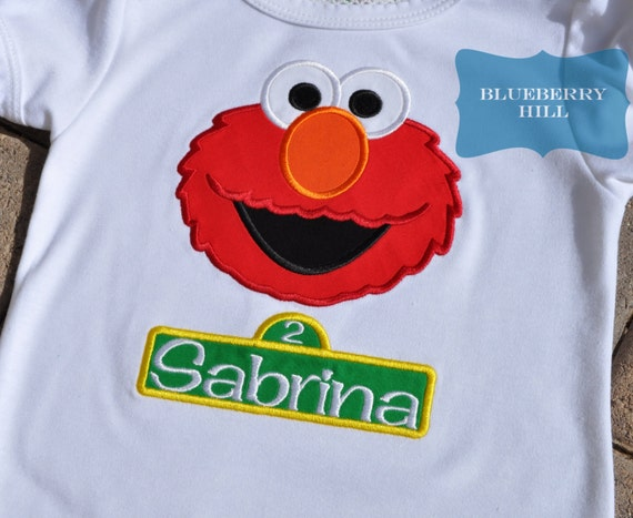 Elmo Shirt Sesame Street Birthday By Shopblueberryhill