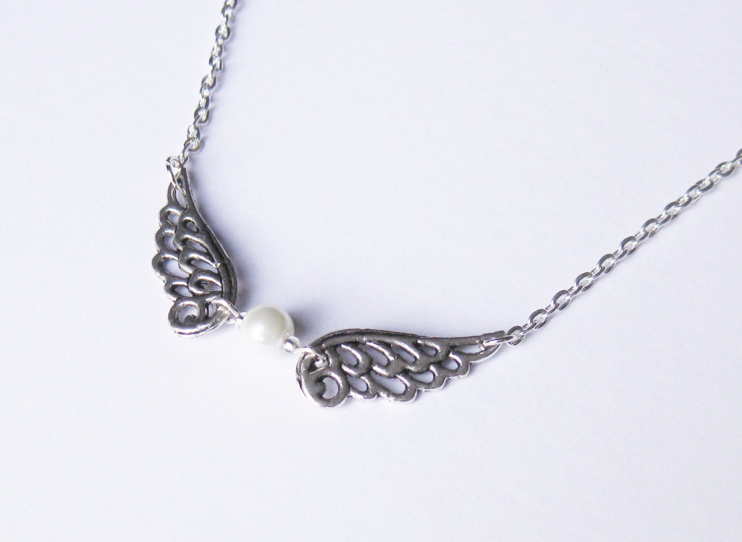 guardian necklace wing necklace by