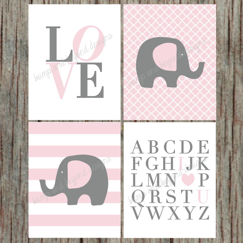 instant download girl nursery wall art set by bumpandbeyonddesigns