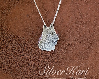 Laekenois, sterling silver necklace
