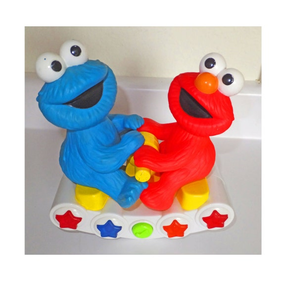 Sesame Street Musical Toys : Tyco cookie monster and elmo rocking musical toy sesame