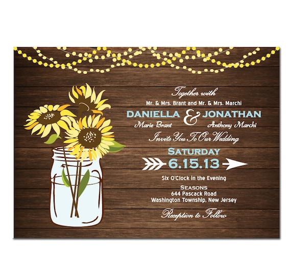 Sunflower Wedding Invitation DIY PRINTABLE Digital File Or