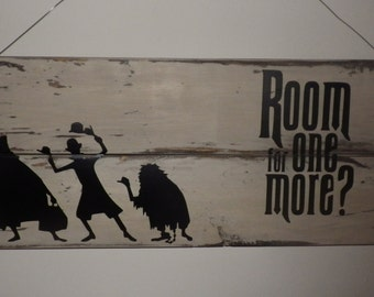 Room for One More? Hitchhiking Ghosts / Haunted Mansion Wall Hanging