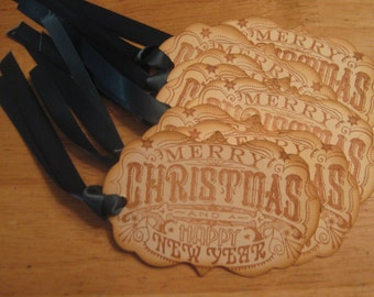 Hand Made Christmas Gift Tags, Holiday Gift Tags, Merry Christmas Gift Tags