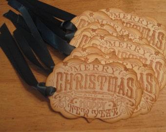 Hand Made Christmas Gift Tags, Holiday Gift Tags, Merry Christmas Gift Tags