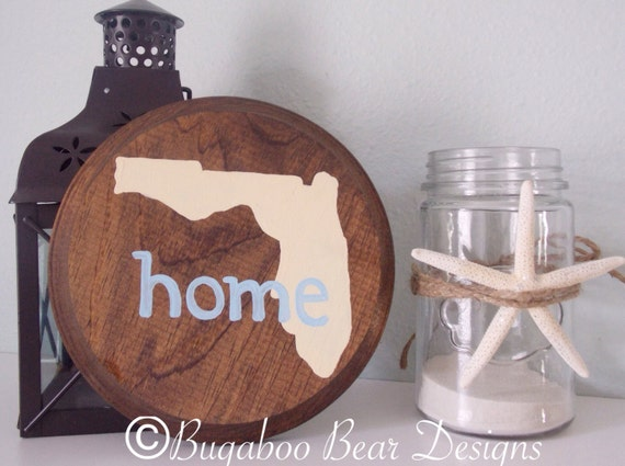 Custom Home State Wood Sign, Any state,  Hand Painted Wood Sign, Housewarming Gift, home sweet home, rustic home decor