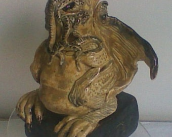 Cthulhu Sculpture Hand Crafted One of a Kind