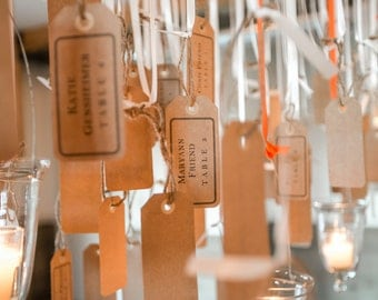 Rustic Wedding Seating Tags - Guest Place Cards