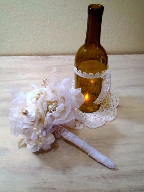 Wine bottle vase vase with flowers fake flowers wedding for Wine bottle flower vase