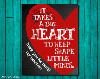 "Shop ""it takes a big heart to shape little minds"" in Paper & Party Supplies"