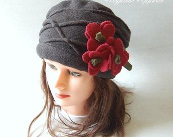 Winter Hat. Fleece Hat. Women's Winter Hat. Worm Fleece Hat.