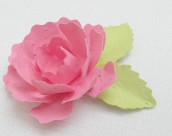 100 Seeded Paper Peonies - Made With Plantable Paper Embedded With Flower Seeds - Eco Friendly - Plant and Grow