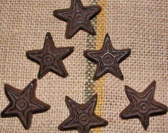 Cast Iron Rustic Star SET OF 24 Cabinet Furniture Drawer Pulls Handle Knob #409