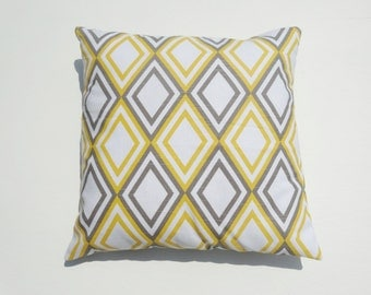 "Premier Prints Annie Slub Yellow / White / Gray Pillow Case / Pillow Cover size 16"" 17"" 18"" 20"" Available"