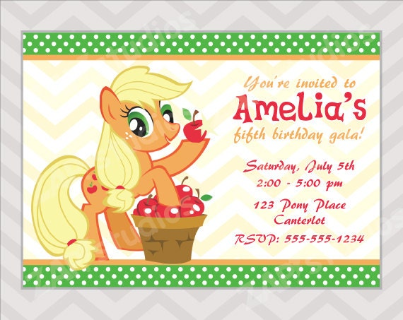My Little Pony Custom Invitations is great invitations example