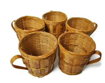 Wicker Picnic Cups