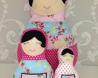 Handmade CE  marked nesting Babushka dolls