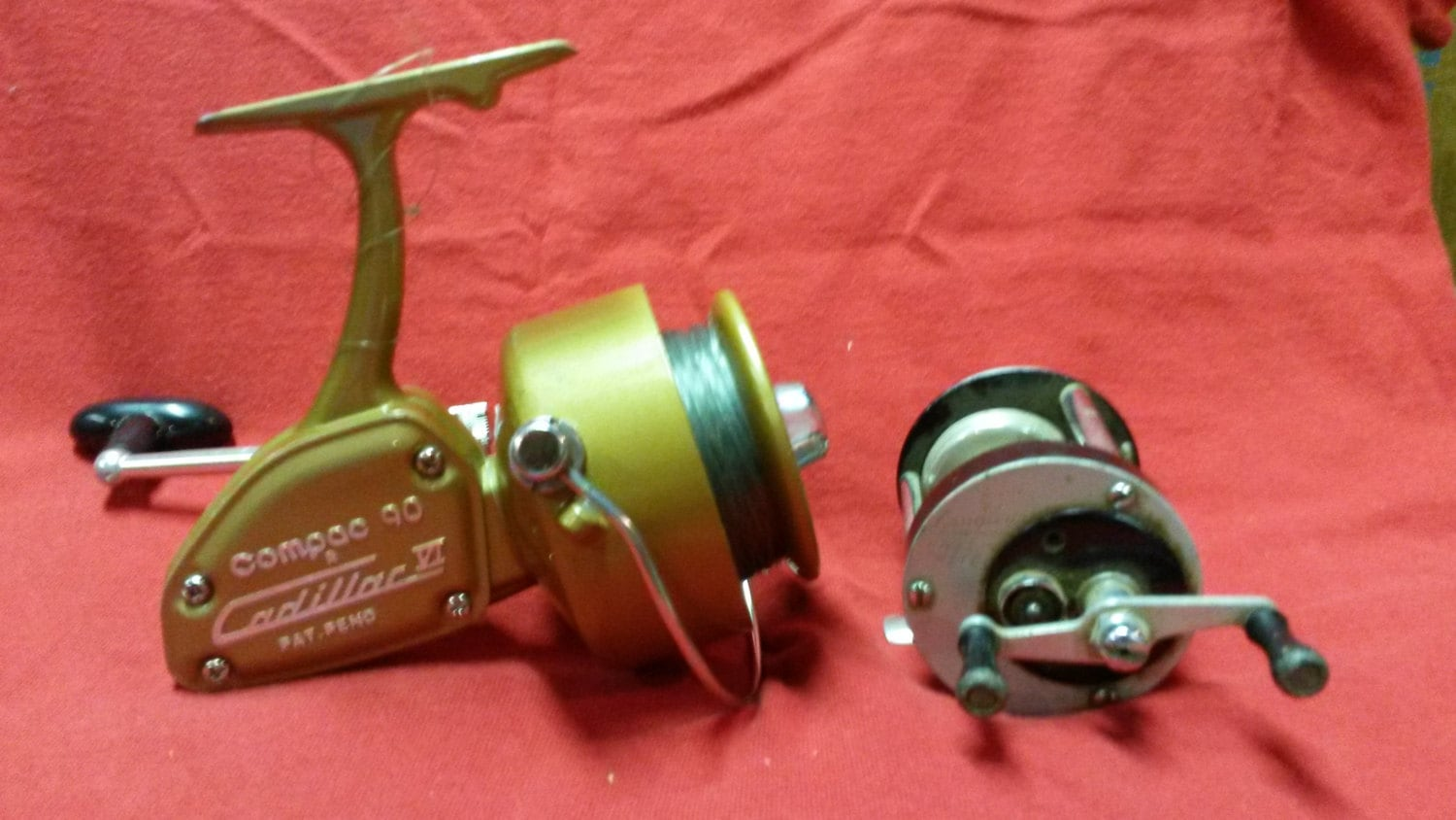 Reserved will vintage fishing reels compac 90 cadillac vi rare for Antique fishing reels