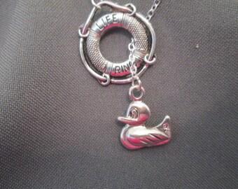Lifeguard Flotation Device Necklace - Lariat Necklace