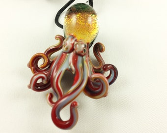 Octopus - Glass Necklace