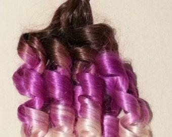 "18"" 100grs,100s,Nail (U) Tip Pastel Human Hair Extensions # Purple"