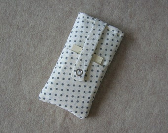 iPhone 5 Case, iPhone 4 Case, iPod Classic Case, Credit Card Holder, Clutch, Purse, White Polka Dots