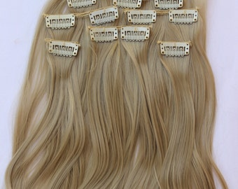 "READY TO SHIP 24"" Ash Blonde Hair Extension, 8 Piece Set,Blonde Hair, Long Hair, Clip In Extension, Clip On Extension, Thick Hair, Full Hair"