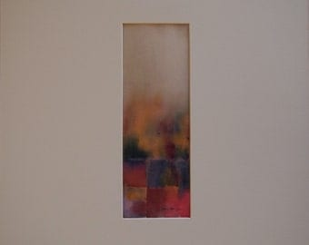 Move Into the Light, an Original Abstract Watercolor, Matted