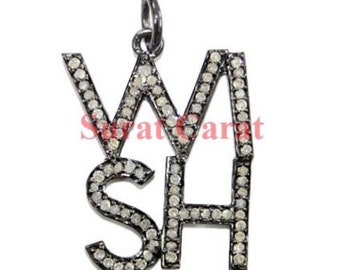 Victorian 2.80 Rose Cut Diamond Pendant, Free Shipping worldwide