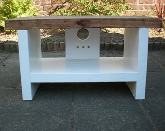 Tv stand in rustic style mid range depth LCD tv unit 34 cm deep
