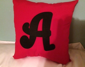 Initial Throw Pillow (Free Shipping)