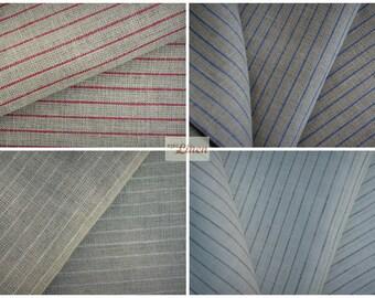 Linen Tea Towels / Set of 2 Pure Natural Linen Kitchen Tea Towels Small Striped