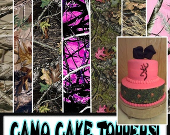 Camouflage Cake Toppers Edible Paper Sugar Sheets Camo