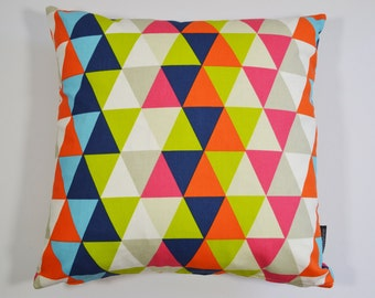 Harlequin Geometric fabric cushion cover  - Kaleidoscope Multi