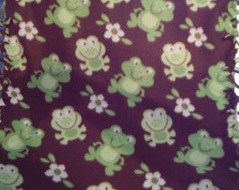 LAST ONE ~ Frog Fleece Blanket