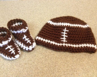 Football Hat and Booties Gift Set - Newborn