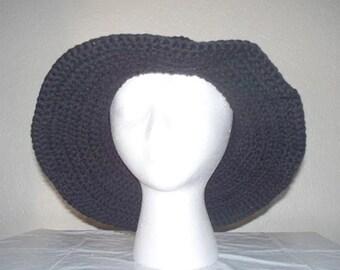 Sun Hat Cap crochet 100% cotton yarn
