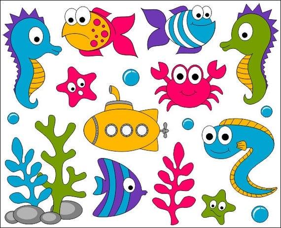 under the sea clip art ocean digital clipart bright cute under the sea clipart png under the sea clipart bordet