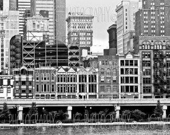 Fort Pitt Boulevard (Cityscape photography, fine art photography, black and white, Pittsburgh)
