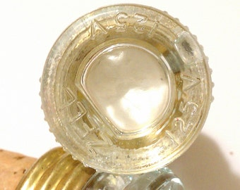 White Fuse Bottle Stopper - upcycled vintage glass fuse