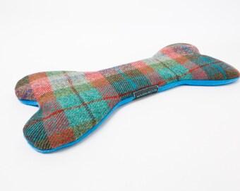 Heat pack, Harris Tweed heat pad, buckwheat heat pad, microwave heat pad, chiller pad, bone shaped heat pad