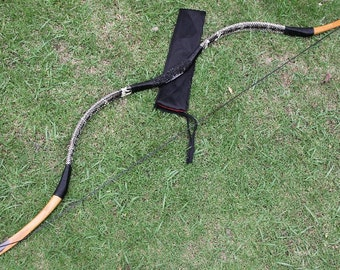 Longbowmaker Handmade Stingray Grip Archery Manual Exquisite OX Horn Snakeskin Longbow Recurve Bow 30-55lbs H2S