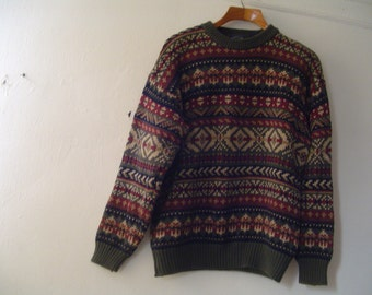 Men! Sz XL Man Vintage All Cotton Long Sleeves Sweater by Woods & Gray   -F 71-