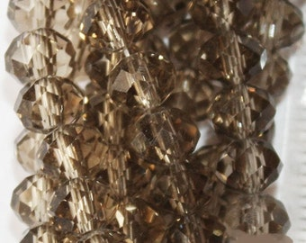 Crystal Faceted Rondelle - 100 pcs - 6 mm - AA quality - full strand, item 06002