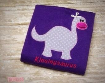 Dinosaur Appliqued Shirt